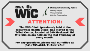 WIC Clinic Now At Tribal Center