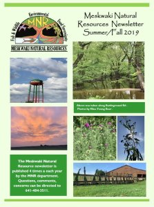2019 Summer/Fall Meskwaki Natural Resources Newsletter