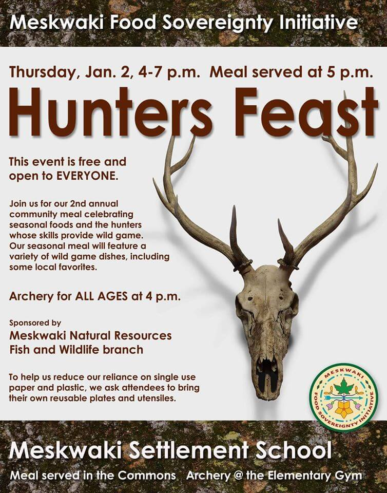 Hunters Feast on January 2nd at MSS