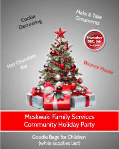 Meskwaki Family Services Community Holiday Party