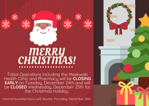 Tribal Operations Holiday Closure