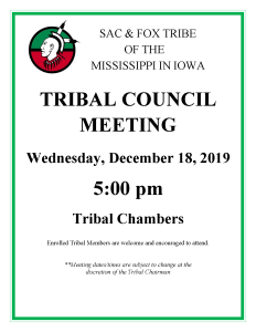CANCELED: Tribal Council Meeting @ Tribal Chambers